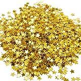 Confeti de Estrella Dorado Confeti Metálico de Mesa Lentejuelas para Decoraciones de Fiesta y Boda, 30 Gramos/ 1 onza