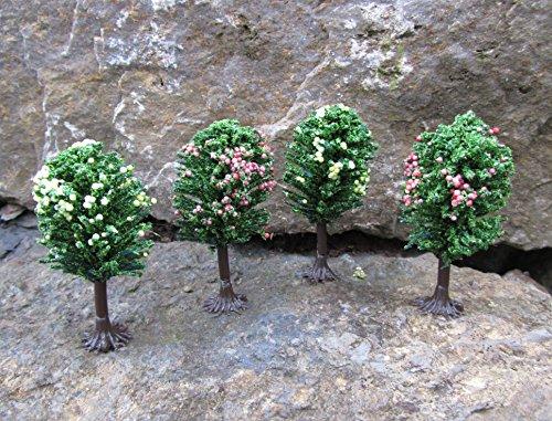 Original Jordan Obstbäume mit Füßen ca.6cm 4er Set Top Qualität