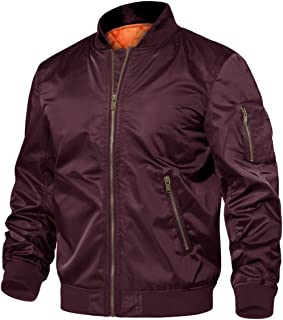 TACVASEN Men's Jackets-Windproof Flight Bomber Jacket Winter Warm Padded Coats Outwear