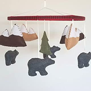 Rustic Bear Baby Mobile