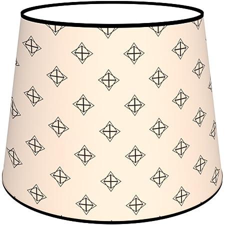 Abat-jours 7111306094914 Conique Imprimé Julie Lampe de Chevet, Tissus/PVC, Multicolore