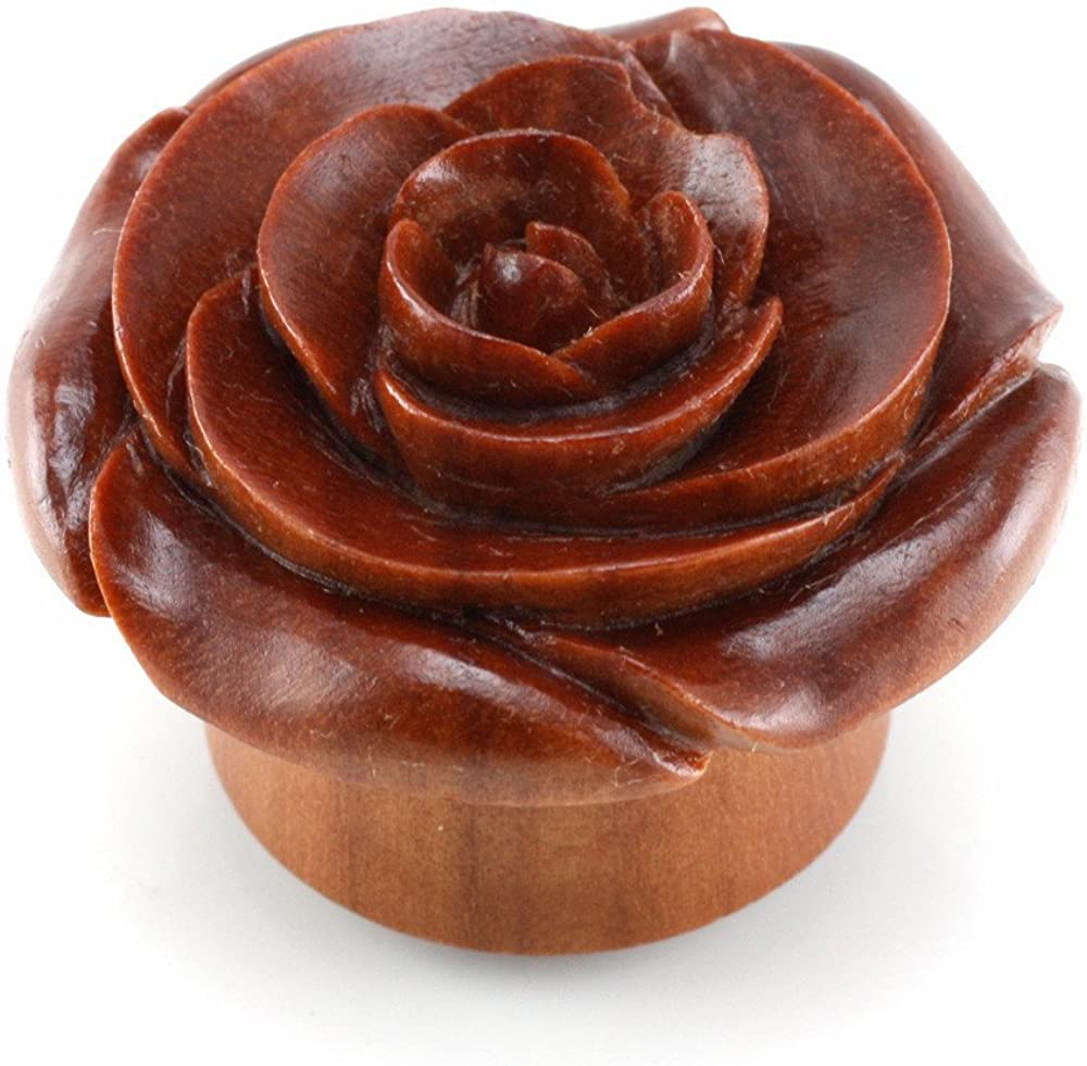 Chocolate Detroit Mall Rose Smooth WildKlass Plugs Pairs Sold as Special price for a limited time