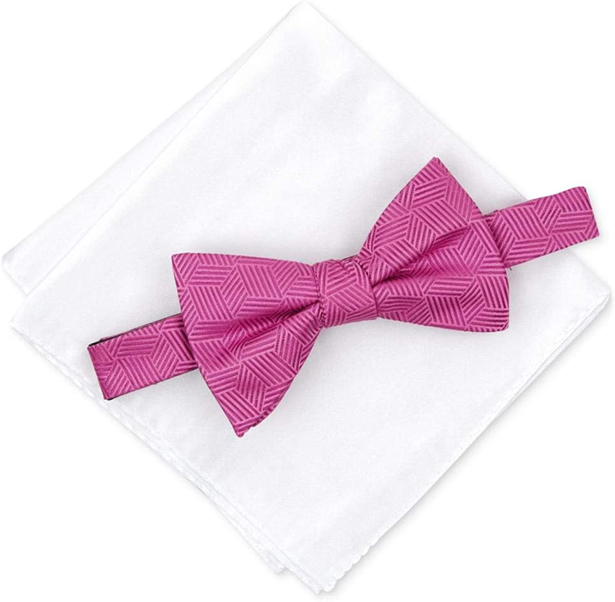 Alfani Mens Shubert Satin Pocket Square Bow Tie