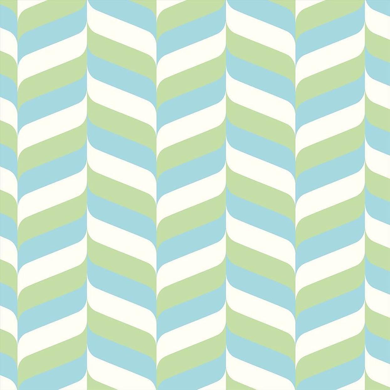ラフト物理違反ポスター ウォールステッカー 正方形 シール式ステッカー 飾り 30×30cm Ssize 壁 インテリア おしゃれ 剥がせる wall sticker poster 木目 黄緑 水色 模様 007014