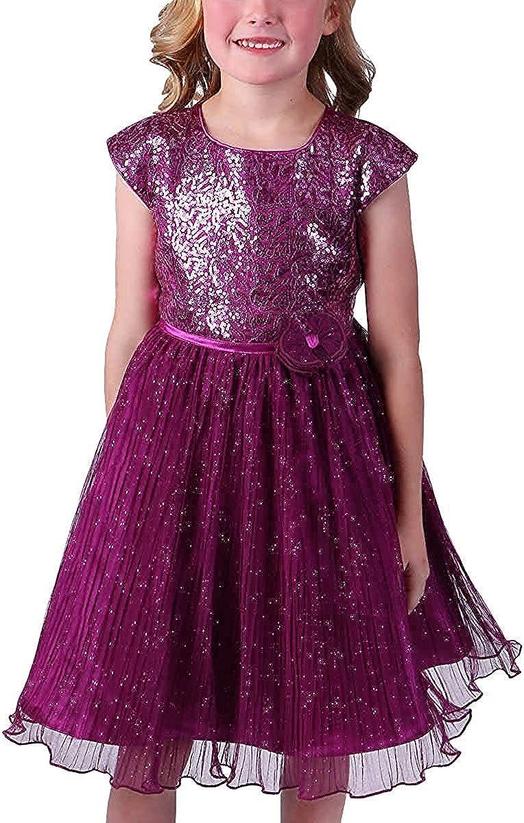 Jona Michelle Girl's Special Occasion Dress (Fuchsia, 10)