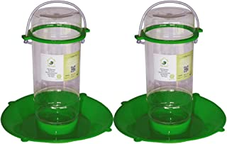 PetNest Food Grade Plastic Bird Water Feeder for All Bird, (Transparent) - 2 Pieces