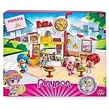 Pinypon - Pizzería, Escenario de Juego, con 1 figurita, niños y...