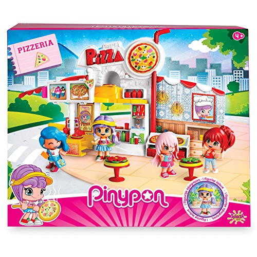 Pinypon - Pizzería, Escenario de Juego, con 1 figurita, niños y niñas de 4 a 8 años (Famosa 700014755)