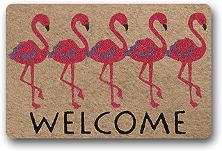 Eureya Custom Doormat Welcome Flamingo Door Mat Floor Mat Inside/Outside Rubber Mat Rug Home Decor 40x60cm