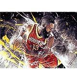 puzzles De Madera James Harden Basketball Star 1000 Piezas Madera para Adultos Juguete Educativo(Color:re)