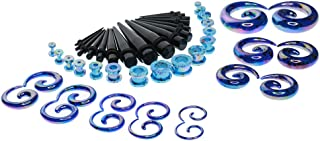 48 Pieces Acrylic Taper/Plug/Spiral Ear Stretching Kits Gauges 12G-1/2'' Ear Expander Set