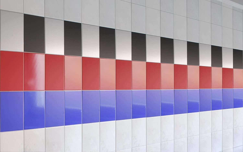 Fliesenaufkleber - 20 x 15 cm - - - 100 Stk. - viele Farben zur Wahl - von Luminess - Made in Germany B00B6P9FDQ 0a68e4