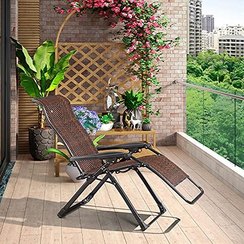 Trädgårdsstolar, hopfällbara solstolar, 150 kg stark bärande, justerbara rottingfåtöljer, för uteplats trädgård utomhus inomhus balkong