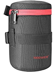 Neewer NW-L2040-R Portable Thick Padded Protective Water Resistant Durable Nylon Lens Pouch Bag for 18-300MM Lens, Such as Canon 100MM 70-300lS 75-300 and Nikon 55-300 28-300 105VR 70-300