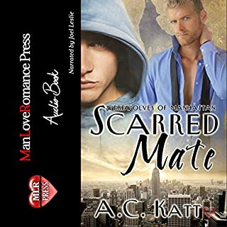 Scarred Mate     Werewolves of Manhattan, Book 3              By:                                                                                                                                 A.C. Katt                               Narrated by:                                                                                                                                 Joel Leslie                      Length: 6 hrs and 16 mins     272 ratings     Overall 4.4