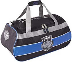 Harley Davidson Logo Sport Duffel (115th Anniversary) Bag, Blue/Black, One Size