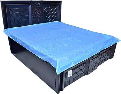 Kuber Industries Plastic Mattress Protector Sheet, Blue