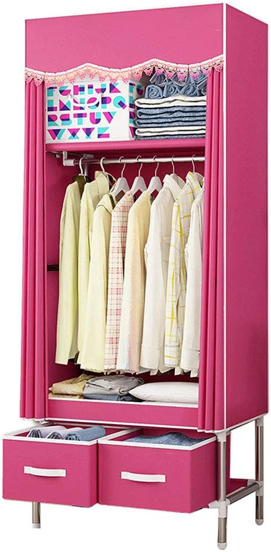 Simple wardrobe Simple wardrobe 80  45  170cm Steel Tube Oxford Cloth Assembly Storage Wardrobe (color   A)
