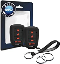 2pcs Compatible with Honda Remote Head 4 Buttons Black Silicone FOB Key Case Cover Protector Keyless Remote Holder for 2019 2018 2017 2016 2015 2014 2013 Honda Accord Sport Civic Crosstour CR-V HR-V
