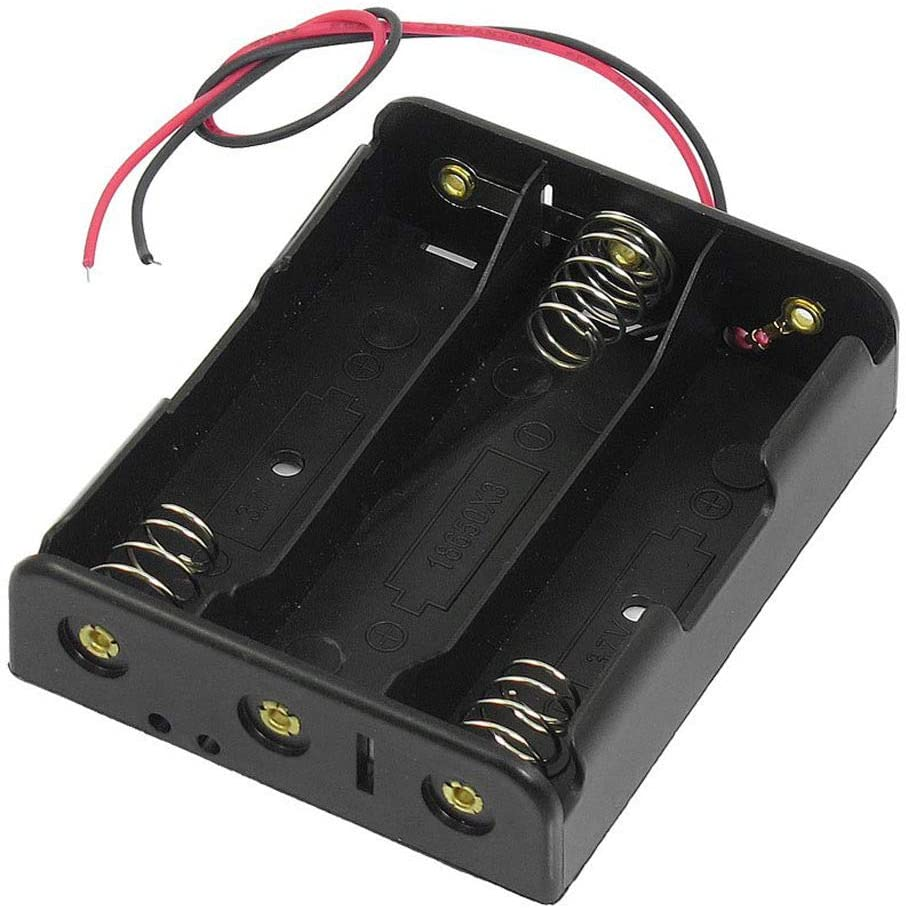 3S 18650 Battery Holder Case Box for 3X 18650 12V Li-Ion with 6