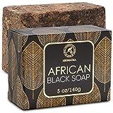 Jabn Negro Africano 140g - Hidratante - Nutritivo - Jabn Negro Africano 100% Crudo Natural con Manteca de Karit & Aceite de Coco para Todos los Tipos de Piel - Ingredientes Naturales