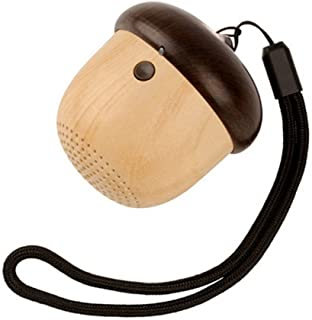 Cute Portable Mini Bluetooth Speaker Shaped Like Nut Acorn with HD Sound and Bass, Built-in Mic for Home, Outdoors Compatible with Smartphone, iPhone iPad, Samsung, Tablet & More