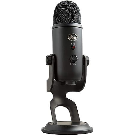 Blue Micrófono USB profesional Yeti para grabación, streaming, podcasting, radiodifusión, gaming, voz en off y más, multipatrón, Plug'n Play en PC y Mac - Negro