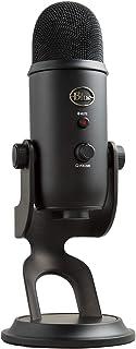 Blue Microphones Yeti - Micrófono USB para grabación y streaming en PC y Mac, 3 cápsulas de condensador, 4 patrones de captación, Salida de auriculares y control de volumen, color Negro (Blackout)