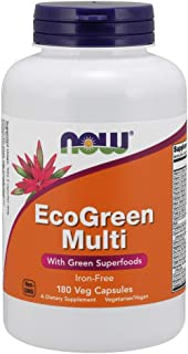 NOW Foods EcoGreen Multi Vitamin  180 Veg Capsules