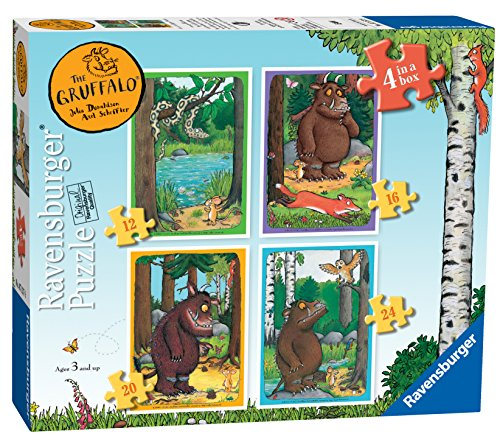 Ravensburger 7157 The Gruffalo Puzzle Boîte de Puzzle 10,2 cm 12, 16, 20 et 24 pièces