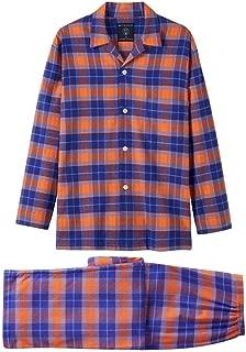 British Boxers Mens Tangerine Dream Two Fold Flannel Pyjama Set - Orange/Blue