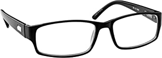Reading Glasses 1.50 Black Single Pair Always Have a Timeless Look, Crystal Clear Vision, Comfort Fit with Sure-Flex Spring Hinge Arms & Dura-Tight Screws