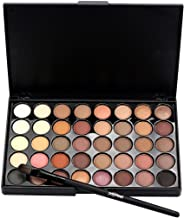 Popfeel 40 Color Cosmetic Matte Eyeshadow Cream Makeup Palette Set, With One Brush (A)