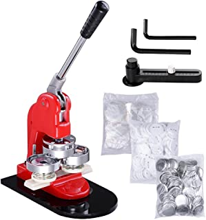 Button Badge Maker Machine 1Inch 25mm with Extra 500 Sets of Bage Parts Circle Cutter for bage Making DIY