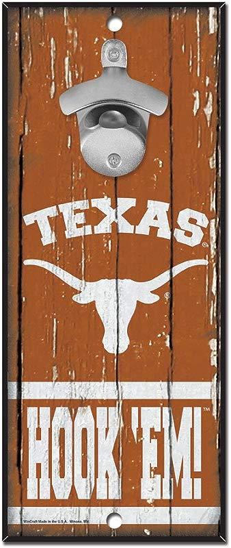 WinCraft NCAA Texas Longhorns 5x11 Wood Sign Bottle Opener Team Colors 5 X11