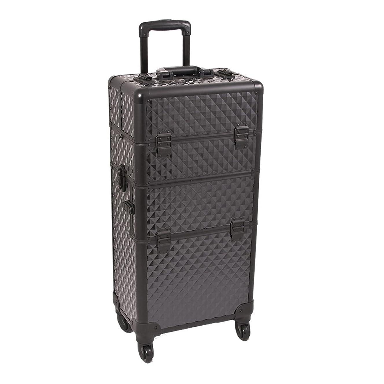 Craft Accents I3561 Diamond Trolley Craft/Quilting Storage Case, Black