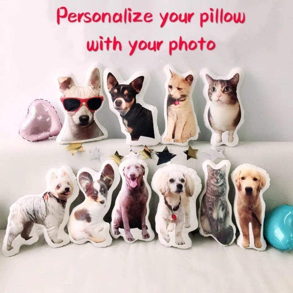 Personalized Pet Picture Dog Cat Pillow for Distinct Gift Halloween LolyishB Custom Body Pillow Valentines Day Thanksgiving 12