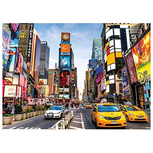 Ourine 1000 Pieces Jigsaw Puzzle for Adults Times Square New York Jigsaw Puzzle Intellective Educational Toy Gift