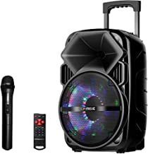 EARISE Bluetooth PA Speaker System with Wireless Microphone, Portable Outdoor Karaoke..