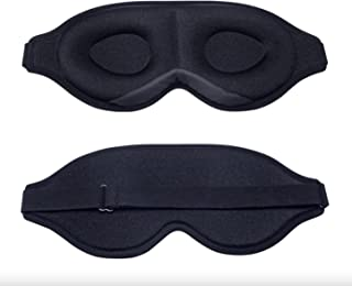Sleep Eye Mask for Men Women, 3D Contoured Cup Sleeping Mask & Blindfold, Concave Molded Night Sleep Mask, Block Out Ligh...