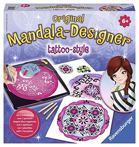 Ravensburger – Mandala – Midi – Tattoo-Style – Loisir créatif – Dessin – Enfant dès 6 ans – 29743