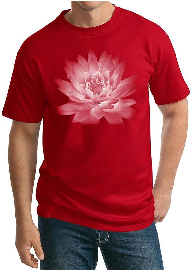 A&E Designs Mens Yoga T-Shirt Lotus Flower Tall Shirt