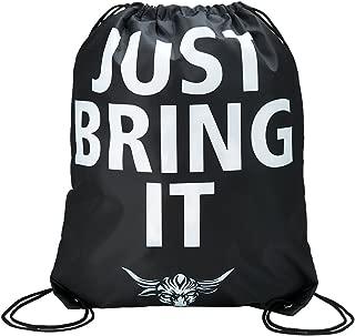 WWE Authentic Wear WWE The Rock Just Bring It Drawstring Bag Black/Orange