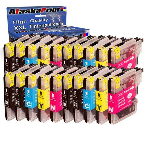 20 Druckerpatronen Kompatibel für Brother LC985BK LC985C LC985M LC985Y XL für Brother MFC-J265W DCP-J140W DCP-J315W DCP-J515W DCP-J125 MFC-J220 MFC-J410 DCP-J415W Patronen