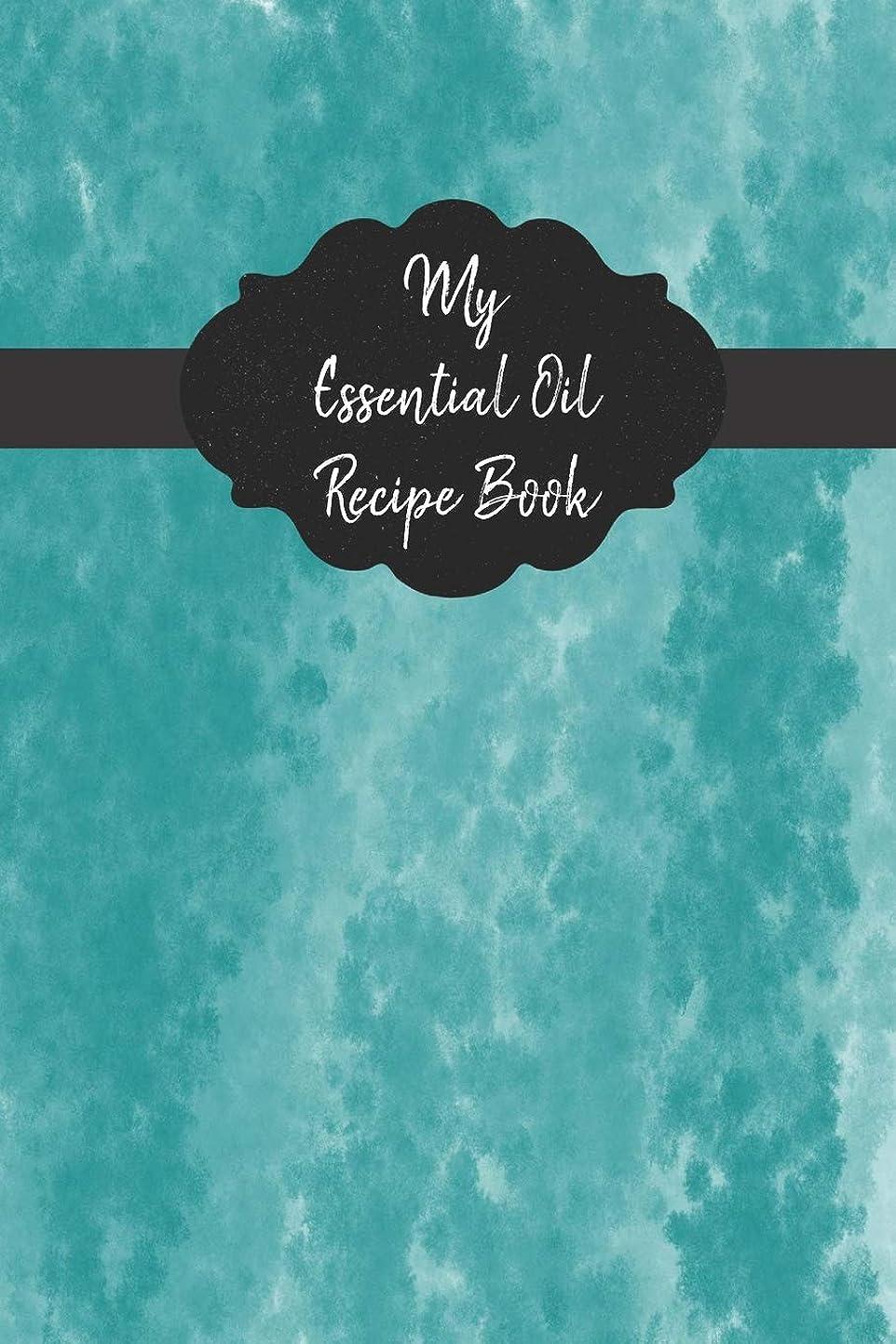 デマンドくそーかすかなMy Essential Oil Recipe Book: Record Your Favorite Aromatherapy Blends Blue