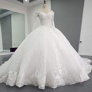 Zhengowen Vestito da Sposa Abito da Sposa delle Donne Annata Elegante Abito di Moda Plus Size for Il Partito di Nozze Abit...
