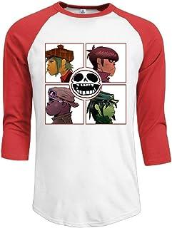 ZYXcustom Men's Gorillaz Demon Days 3/4 Sleeves Baseball T-Shirts