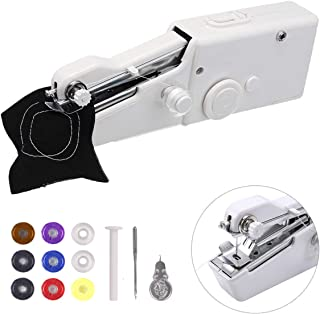 Eligara Sewing Machine Handheld Portable Stitch Tool Cordless DIY Machine Household Tool for Repairing Clothing Fabric Use at Home or Travel Battery Powered