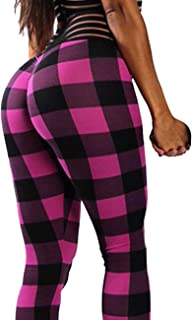 6a8d27a8f71 KIWI RATA Women Scrunch Butt Yoga Pants Leggings High Waist Waistband Workout  Sport Fitness Gym Tights