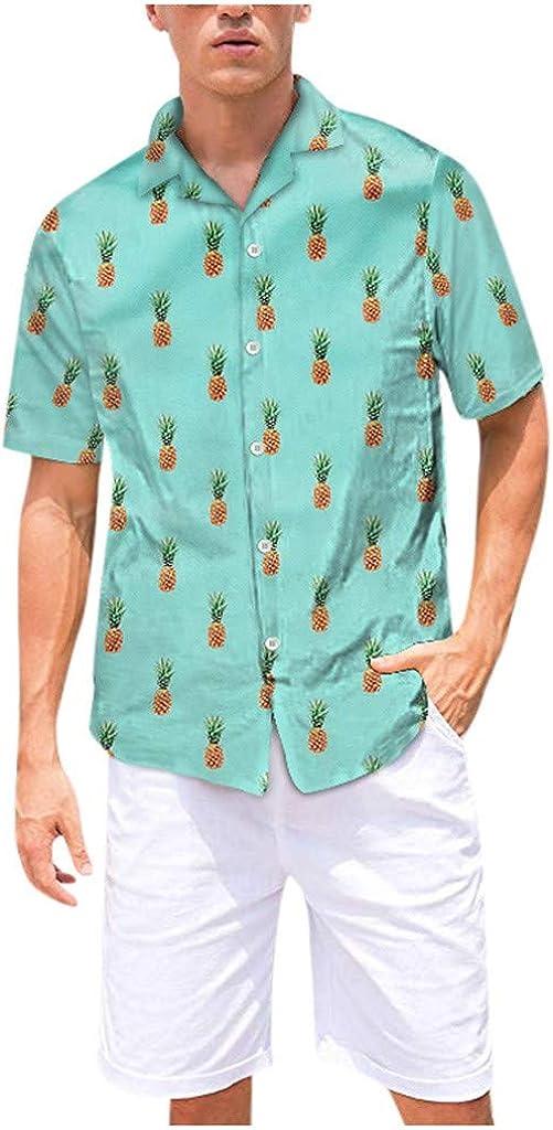 Men's Luxury Hawaiian Elegant Shirt Short Sleeve Loose Print Floral Butt Casual